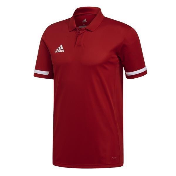 adidas Team 19 Power Red/White Cotton Polo