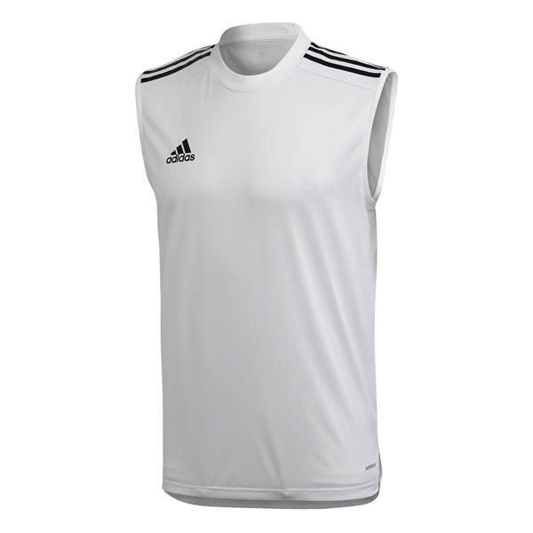 adidas Condivo 20 White/Black Sleeveless Jersey