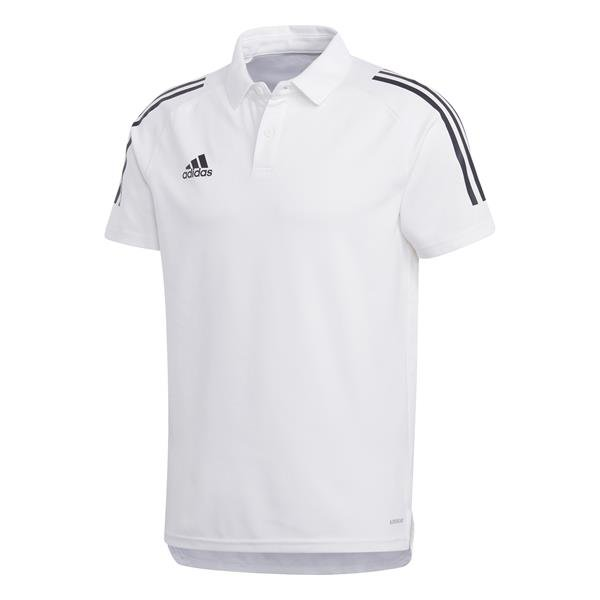 adidas Condivo 20 White/Black Cotton Polo