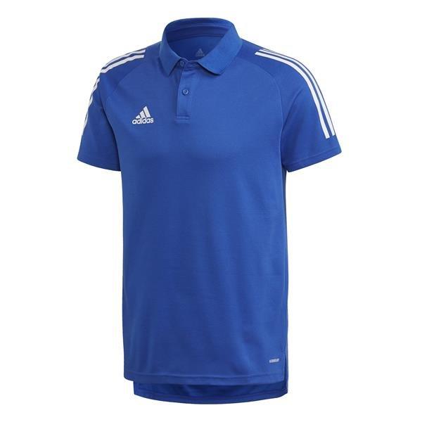 adidas Condivo 20 Team Royal Blue/White Cotton Polo
