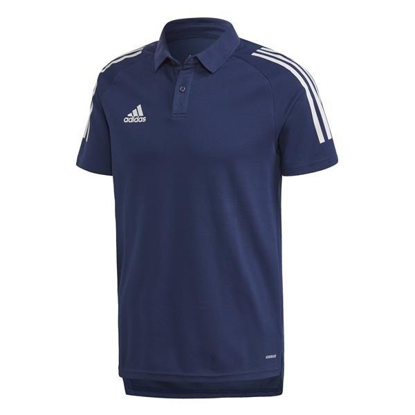 adidas Condivo 20 Team Navy Blue/White Cotton Polo