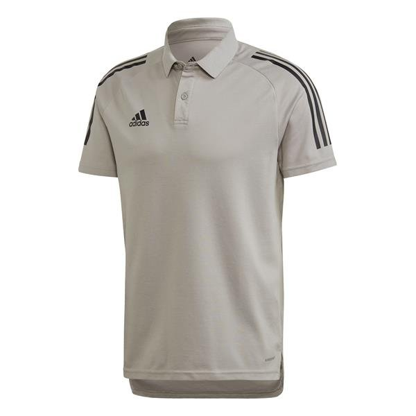 adidas Condivo 20 Team Mid Grey/Black Cotton Polo