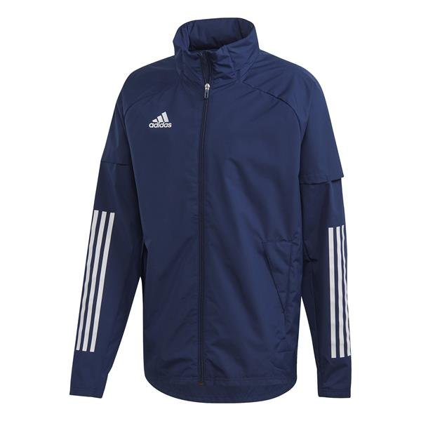 adidas Condivo 20 Team Navy Blue/White All Weather Jacket