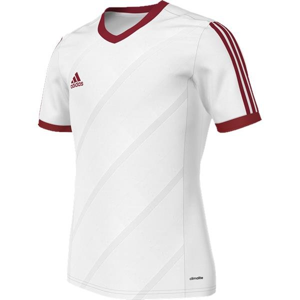 adidas Tabela 14 White/Power Red SS Football Shirt Youths