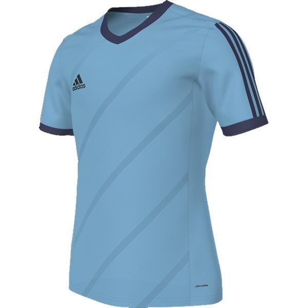 adidas Tabela 14 Super Cyan/Dark Blue SS Football Shirt Youths