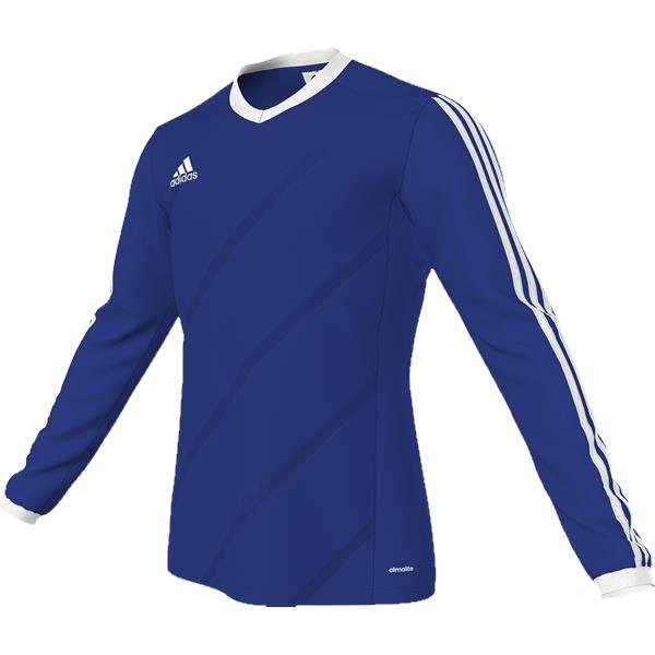 adidas Tabela 14 Bold Blue/White LS Football Shirt Youths