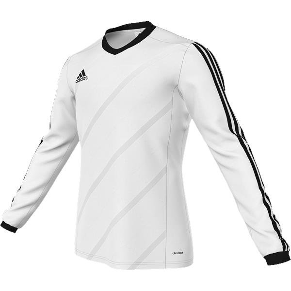 adidas Tabela 14 White/Black LS Football Shirt Youths