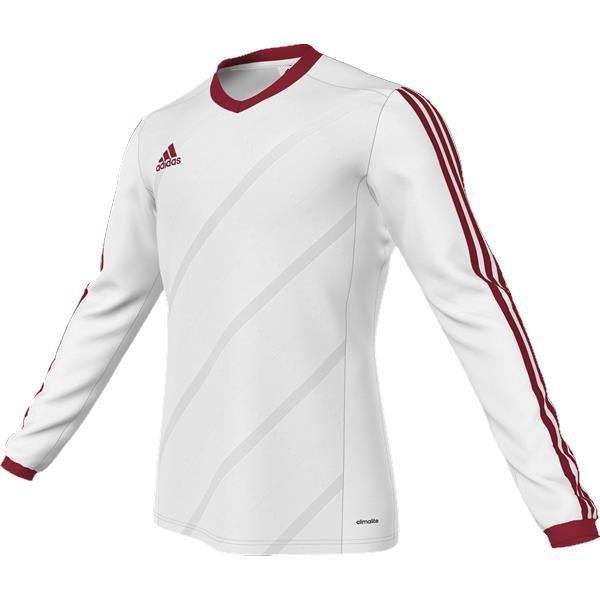 adidas Tabela 14 White/Power Red LS Football Shirt