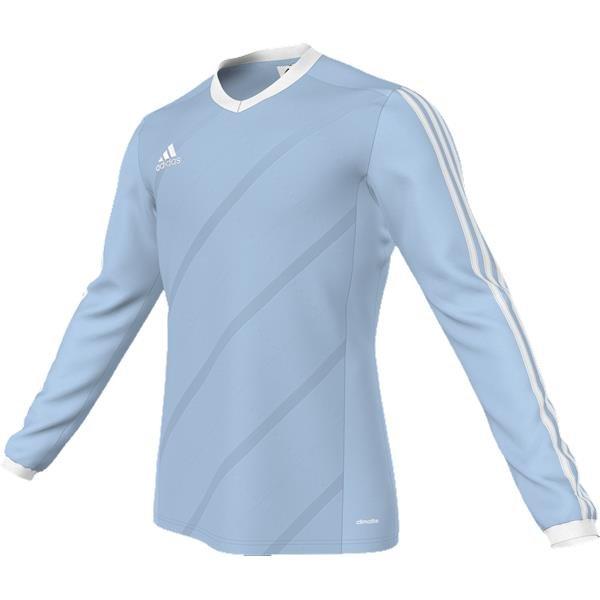 adidas Tabela 14 Clear Blue/White LS Football Shirt Youths