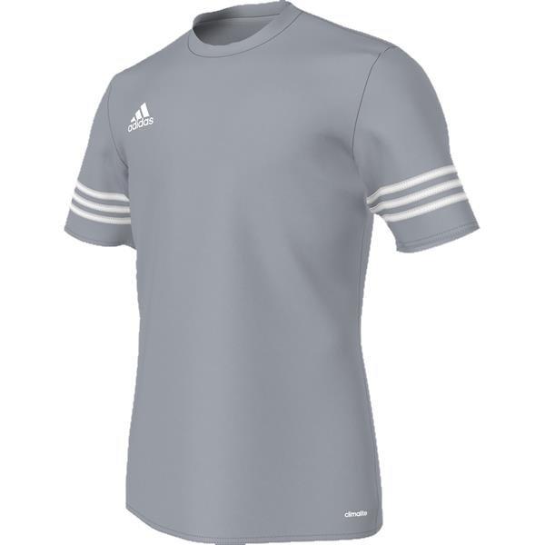 df4034b58a9 adidas Entrada 14 Light Grey/White Football Jersey
