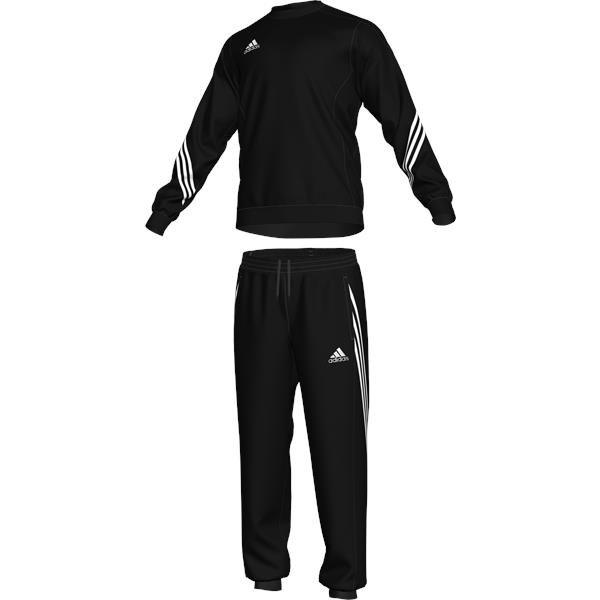 adidas Sereno 14 Black/White Sweat Suit