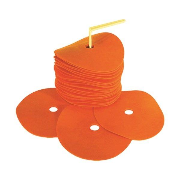 20 Orange Flat Spot Markers