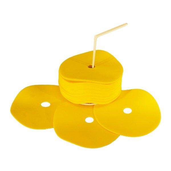 20 Yellow Flat Spot Markers