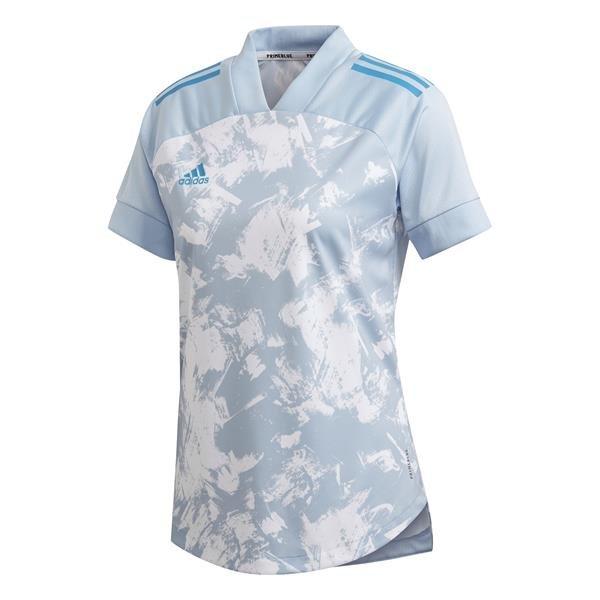 adidas Condivo 20 Primeblue Womens Easy Blue/White Football Shirt