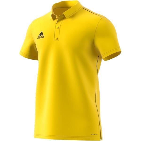 adidas Core 18 Yellow/Black Polo