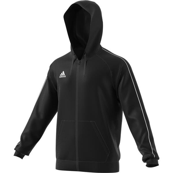 adidas Core 18 Full Zip Hoody Black/white