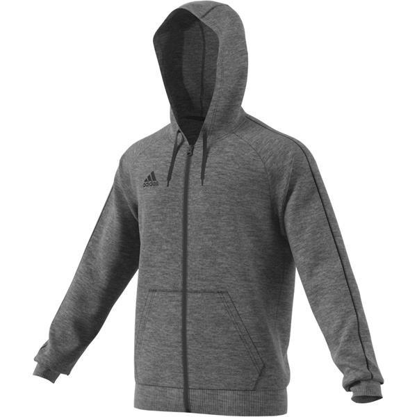 adidas Core 18 Dark Grey/Black Full Zip Hoody