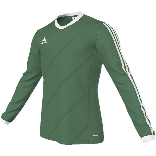 adidas Tabela 14 Bold Green/White LS Football Shirt