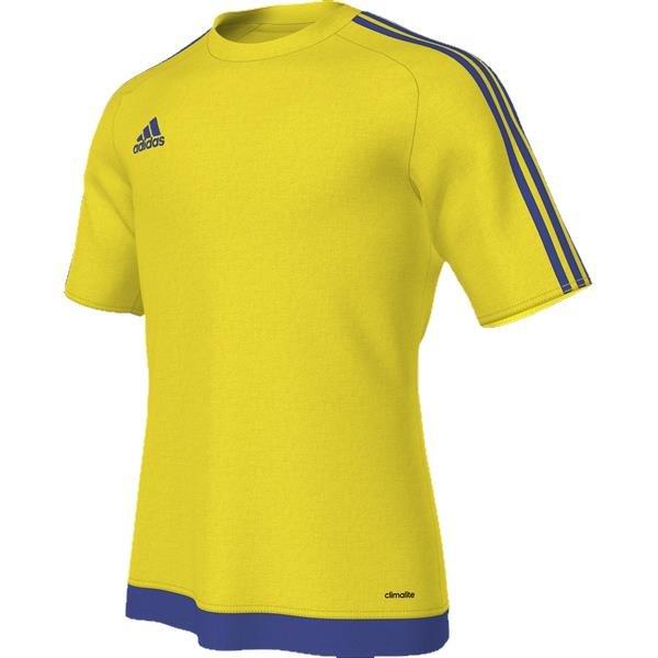 adidas Estro 15 SS Yellow Bold Blue Football Shirt Youths 6e4d91d63