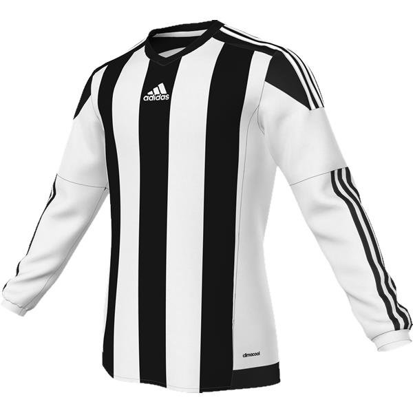 adidas Striped 15 White/Black LS Football Shirt