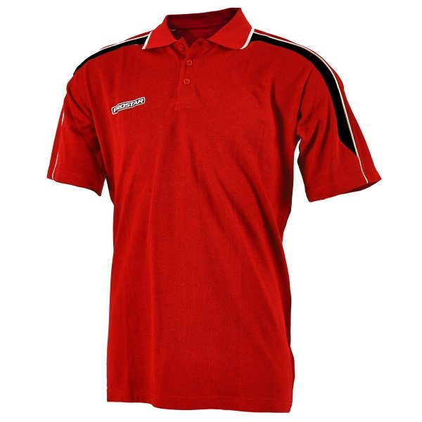 Prostar Magnetic Scarlet/Black/White Polo Shirt
