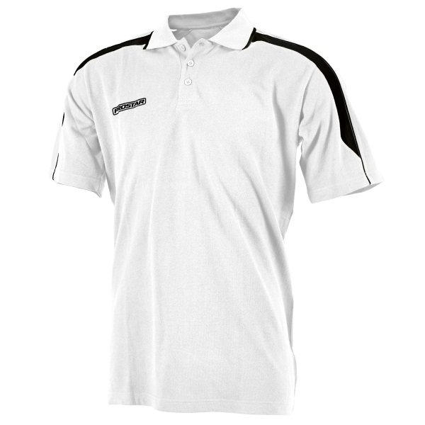 Prostar Magnetic White/Black Polo Shirt