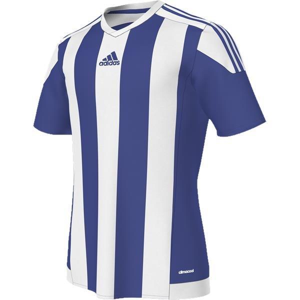 adidas Striped 15 Bold Blue/White SS Football Shirt Youths