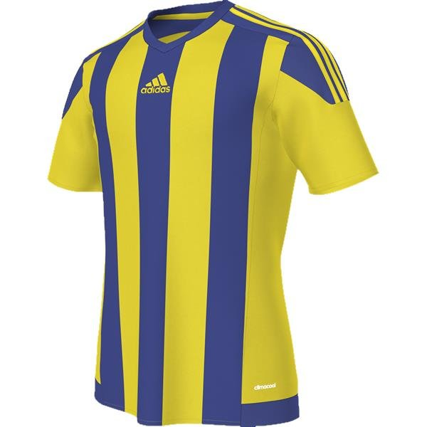 adidas Striped 15 Yellow/Bold Blue SS Football Shirt