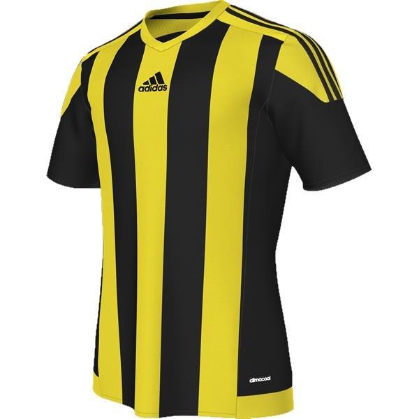 adidas Striped 15 Black/Yellow SS Football Shirt
