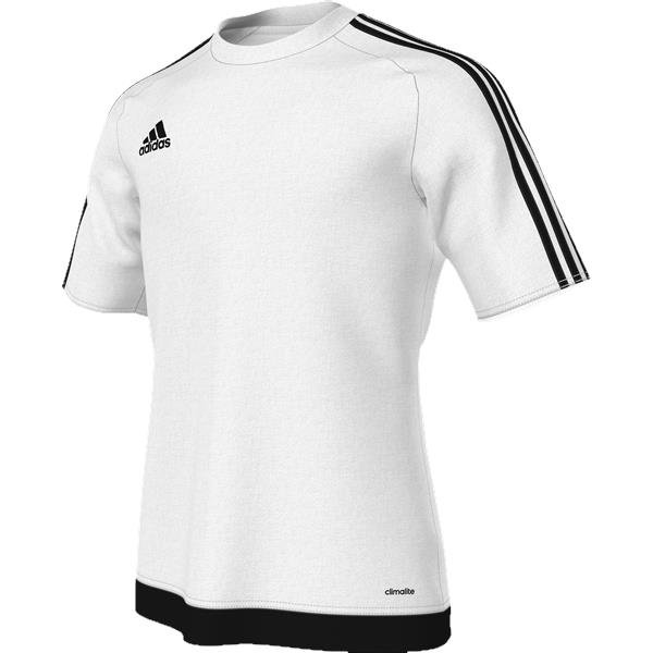 adidas Estro 15 SS Football Shirt White/black