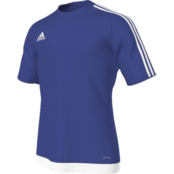 adidas Estro 15 SS Bold Blue White Football Shirt 665d07968