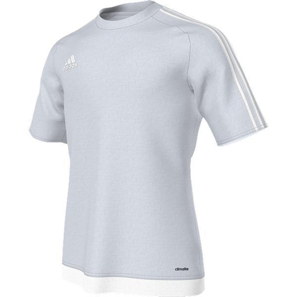 adidas Estro 15 SS Light Grey White Football Shirt b15421c2e