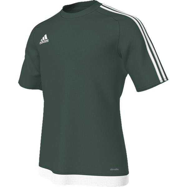 adidas Estro 15 SS Collegiate Green/White Football Shirt