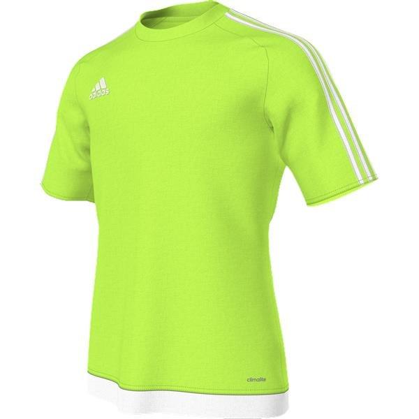 adidas Estro 15 SS Solar Green/White Football Shirt
