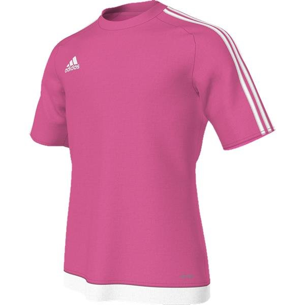 adidas Estro 15 SS Solar Pink/White Football Shirt