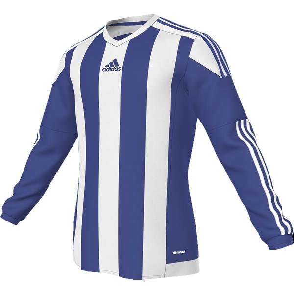 adidas Striped 15 Bold Blue/White LS Football Shirt