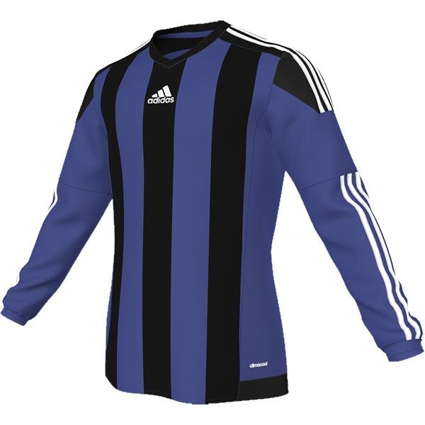 adidas Striped 15 Bold Blue/Black LS Football Shirt