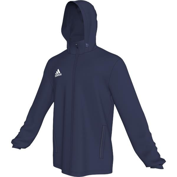 adidas Core 15 Dark Blue/White Rain Jacket
