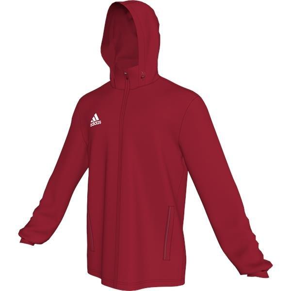 adidas Core 15 Power Red/White Rain Jacket