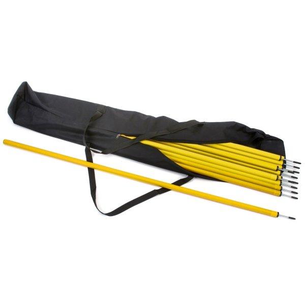 12 x Slalom Poles & Carry Bag 12 Yellow