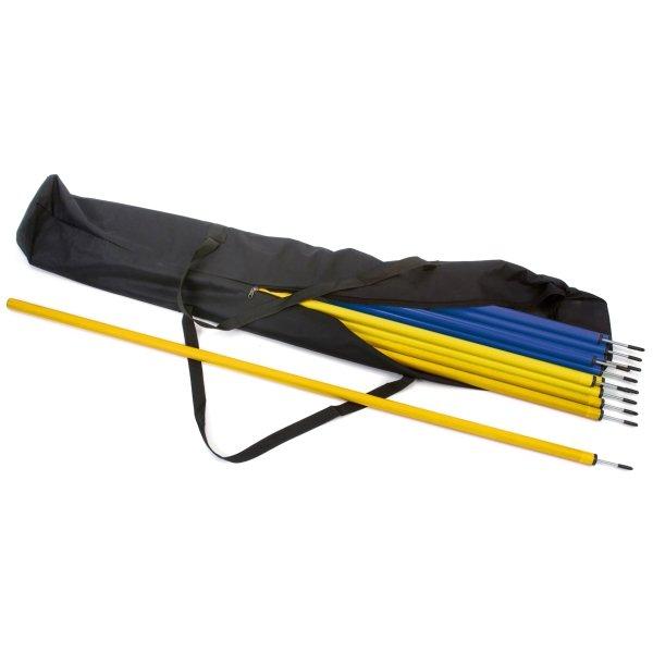 30 x Slalom Poles & Carry Bag 15 Blue & 15 Yellow