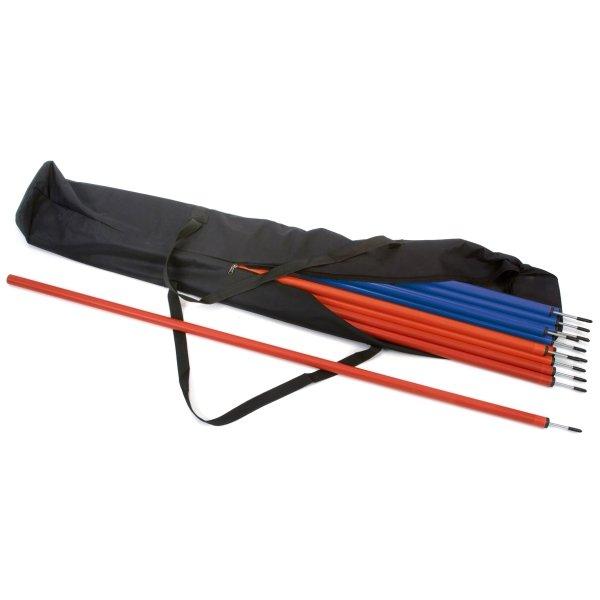 30 x Slalom Poles & Carry Bag 15 Red & 15 Blue