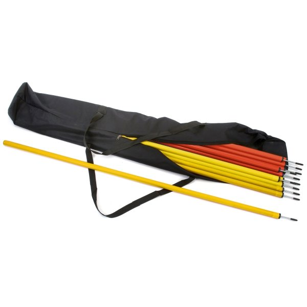 30 x Slalom Poles & Carry Bag 15 Red & 15 Yellow