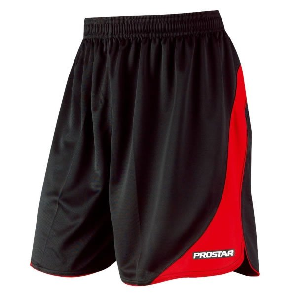 Prostar Sparta Black/Scarlet Football Short Youths