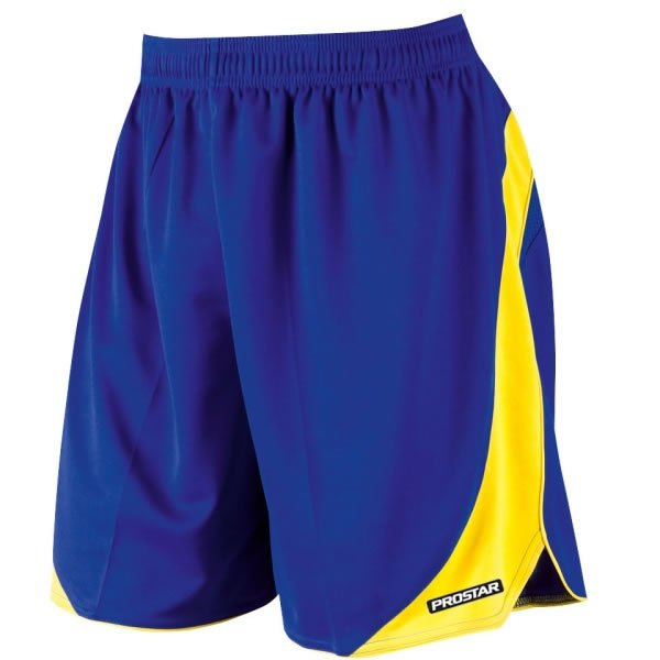 Prostar Sparta Royal/Yellow Football Short