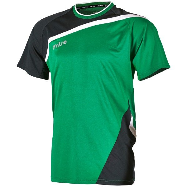 Mitre Temper Football Shirt Yellow/emerald