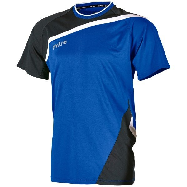 Mitre Temper Royal/Black Football Shirt
