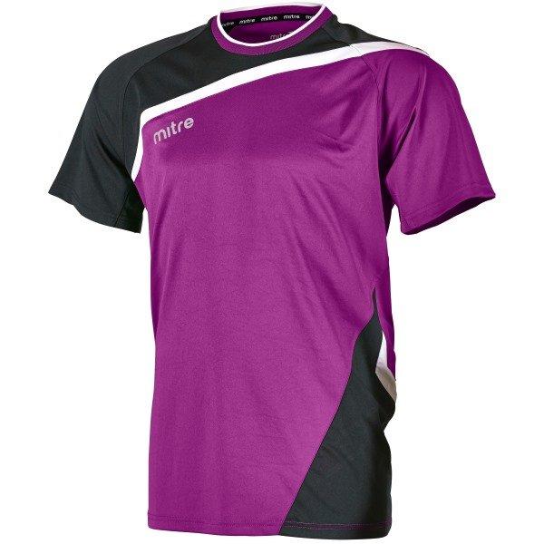Mitre Temper Violet/Black Football Shirt