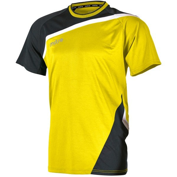Mitre Temper Yellow/Black Football Shirt