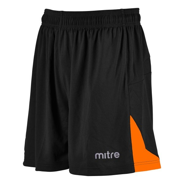 Mitre Prism Black/Tangerine Football Short